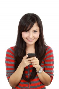 Teen Age Girl with Mobile Device - Drug Free PA